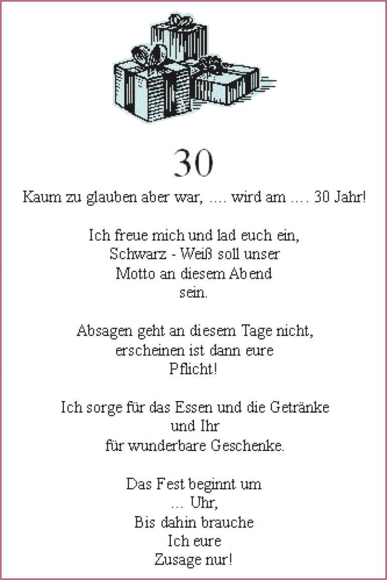 Einladungen Zum 30 Geburtstag In 2020 Spruche Einladung