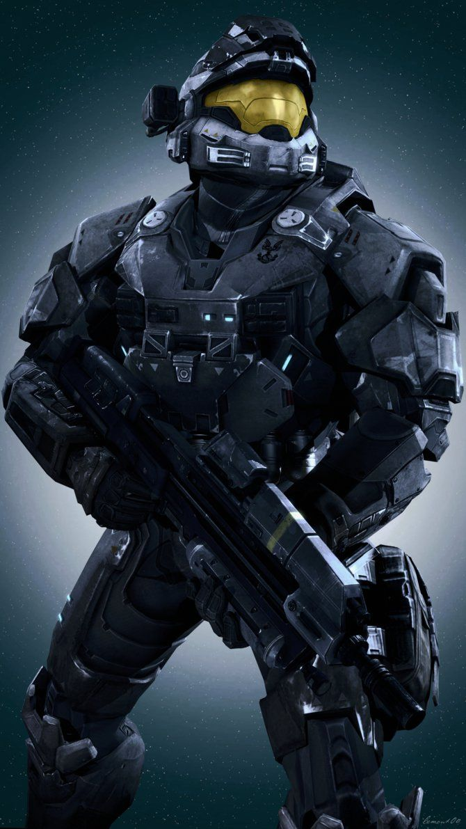 Halo Reach Noble Six Multiplayer Spartans By Lemon100 Deviantart Com On Deviantart Halo Reach Halo Armor Halo Spartan