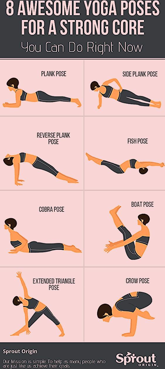 8 Awesome Yoga Poses For A Strong Core You Can Do Right Now - Yoga fitness - #Awesome #Core #fitness...