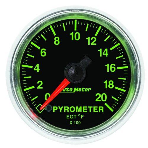 Autometer 3845 Gs Electric Pyrometer Gauge Kit  Black