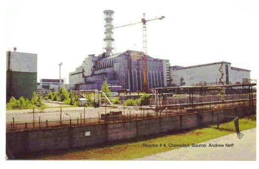 Chernobyl nuclear reactor #4 containment building