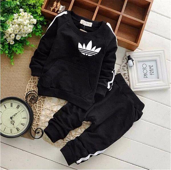Mode Kinder Jungen Mädchen Kleidung Sets Frühling Herbst Baby Marke Jacke Hosen 2 Teile / sätze K