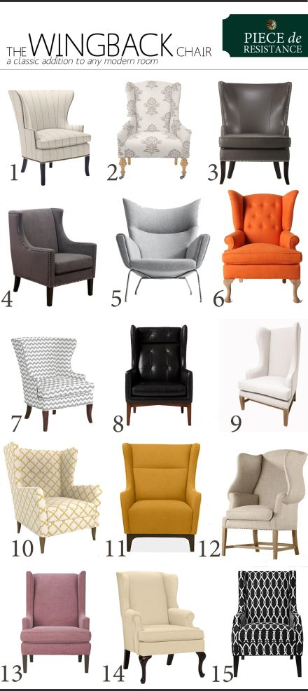 A Wingback For Every Style Furniture Living Room Chairs Modern