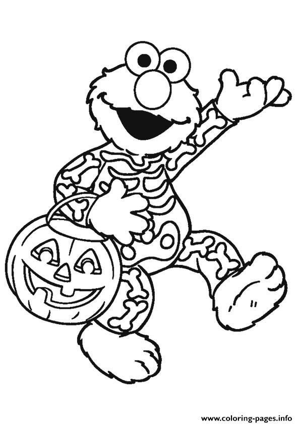 Print Elmo halloween disney halloween coloring pages | 2 Color ...