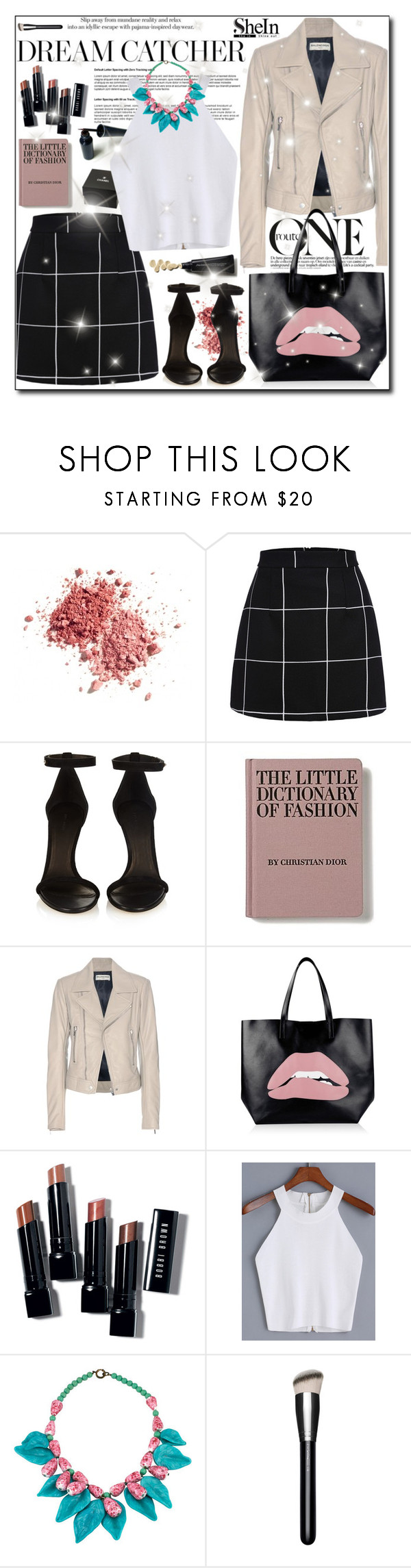 """""""SheIn Contest"""" by adnaaaa ❤ liked on Polyvore featuring Chanel, Isabel Marant, Balenciaga, RED Valentino, Bobbi Brown Cosmetics and MAC Cosmetics"""
