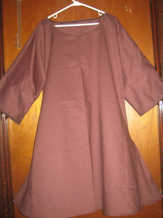L  2X Cotton Brown Tunic by AlessandraGoldKey on Etsy, $10.00