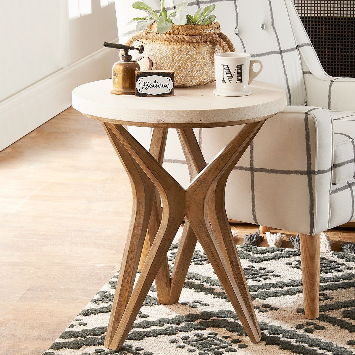 Handcrafted Harmony Side Table In 2020 Table Decor Living Room Living Room Side Table Side Table Decor