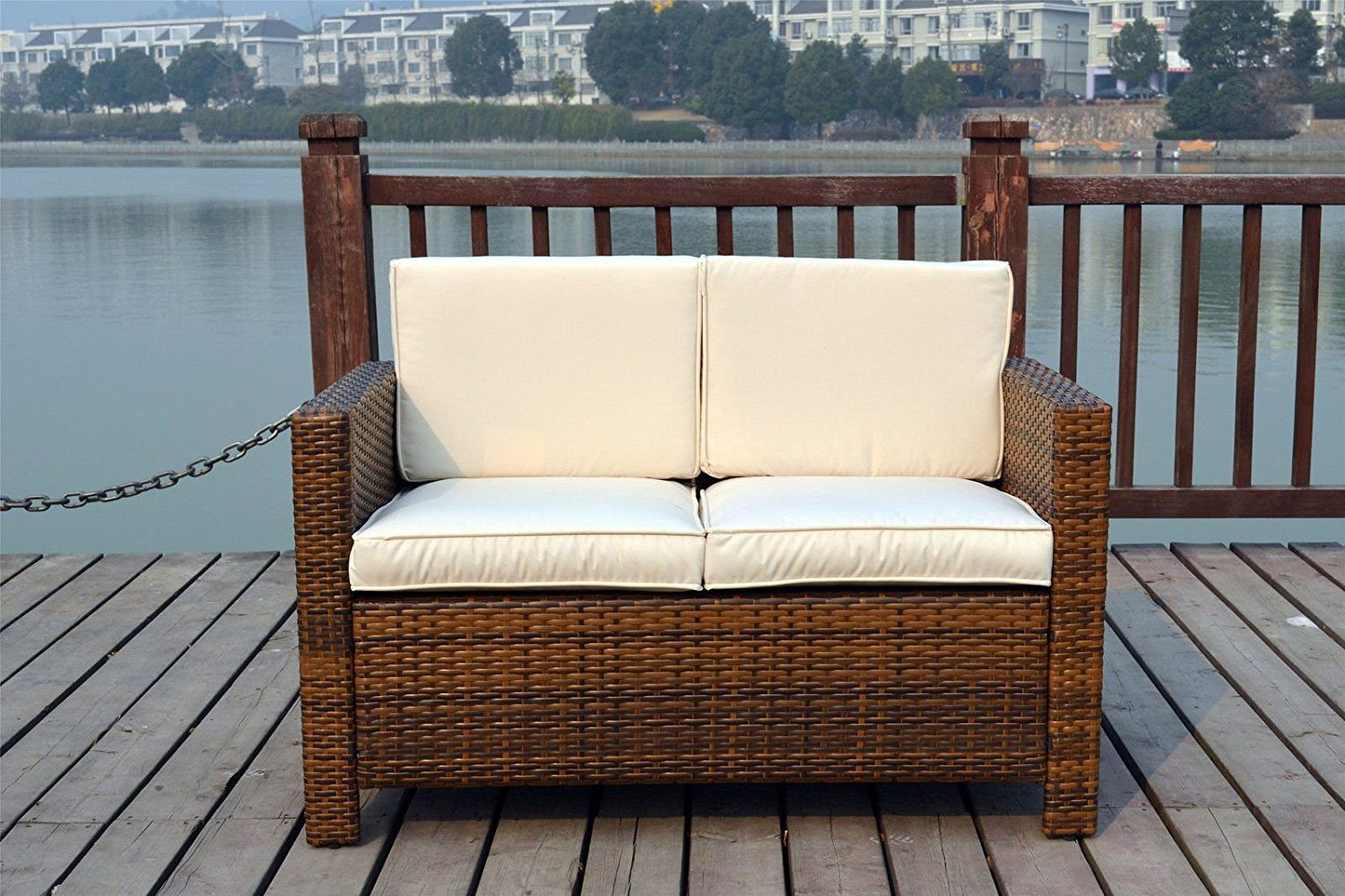 Rattan Twin Sofa New Twin Rattan Wicker Conservatory Outdoor Garden Furniture Set