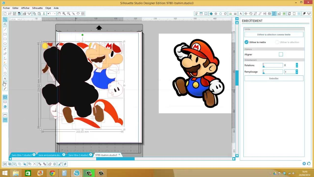 vectoriser en couleur pour flex plusieurs couleurs ou print and cut
