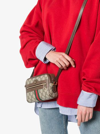 brown Ophidia small suede belt bag Gucci QUKBgmPWFE