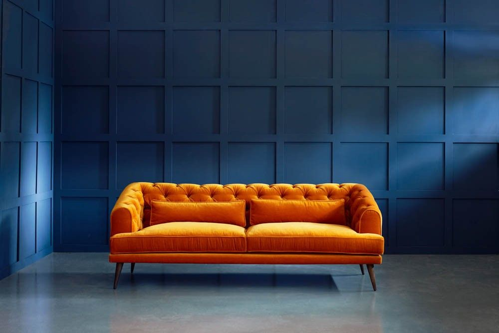 Chesterfield Linen Sofa Images Cowhide Rug And