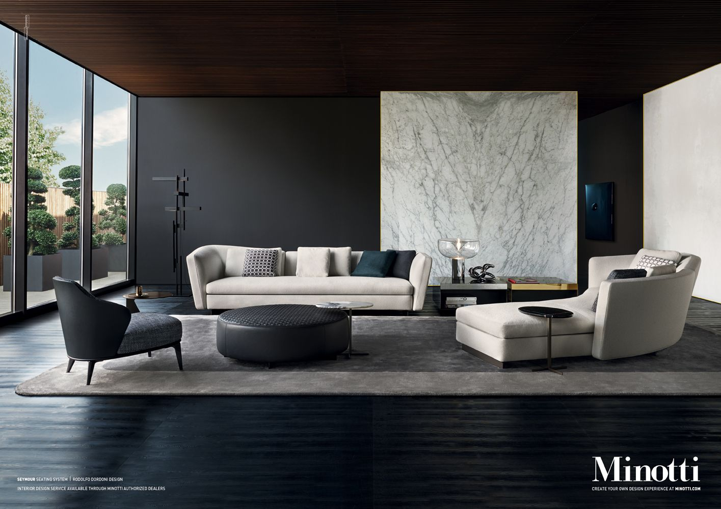 Seymour seating system rodolfo dordoni design adv seymour sofa living room haus - Raumausstattung wohnzimmer ...