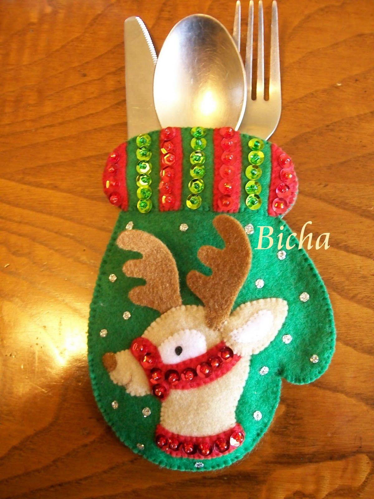 Les dejo los ultimos modelos de portacubiertos que he for Cuales son los adornos navidenos