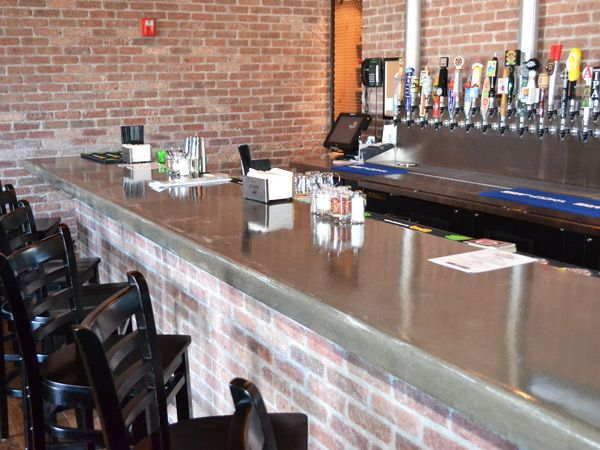 Man Cave Bar Counters : Concrete bar top ideas on may · posted in commercial