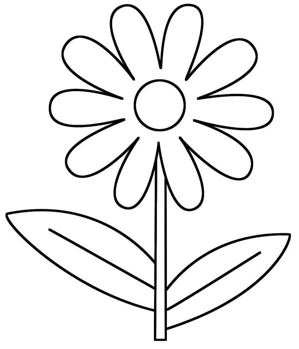 D Is For Daisy Flower Coloring Page Printable Flower Coloring Pages Spring Coloring Pages Flower Printable