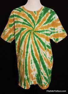 Old Gold   Green Tie Dye Shirt (Hand Dyed) in Short or Long Sleeve ... 060ce2ce3