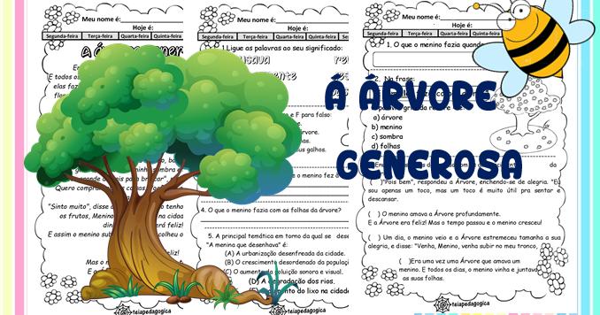 Leitura E Interpretacao A Arvore Generosa Dia Da Arvore