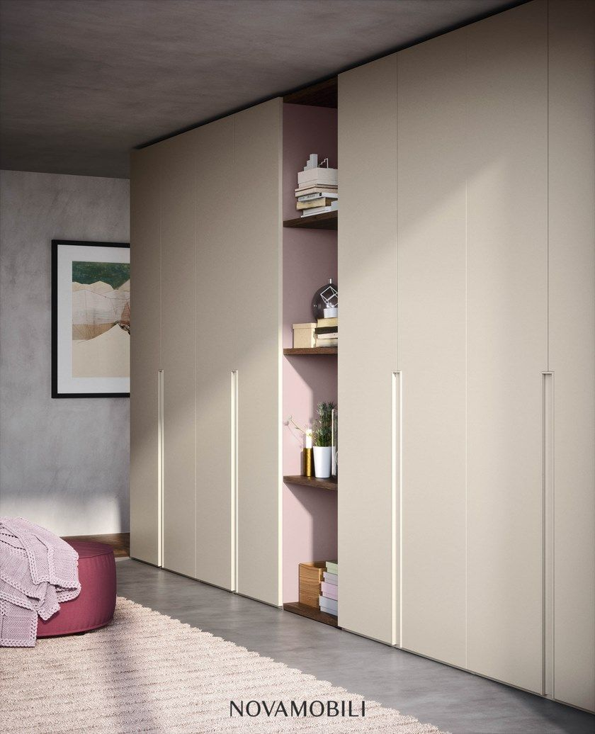 Sectional lacquered wardrobe UNIKA By Novamobili