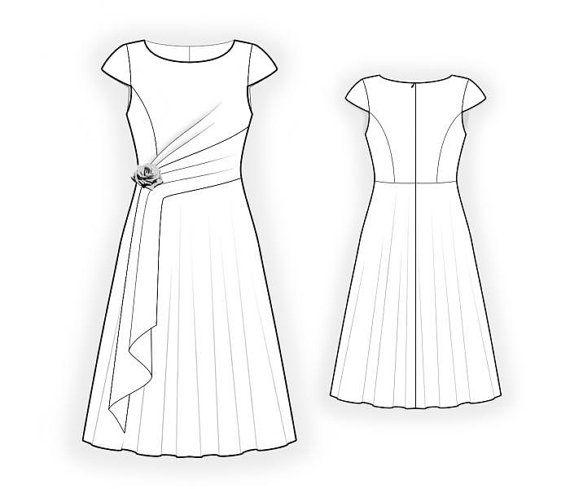 Lekala 4416 - Dress Sewing Pattern PDF Download, Free Made to ...