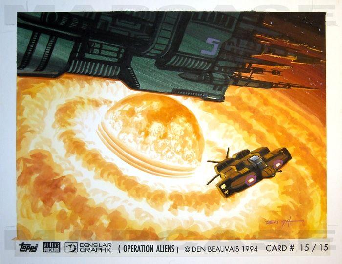Photo of Operation: Aliens Card A15 -Beauvais Comic Art