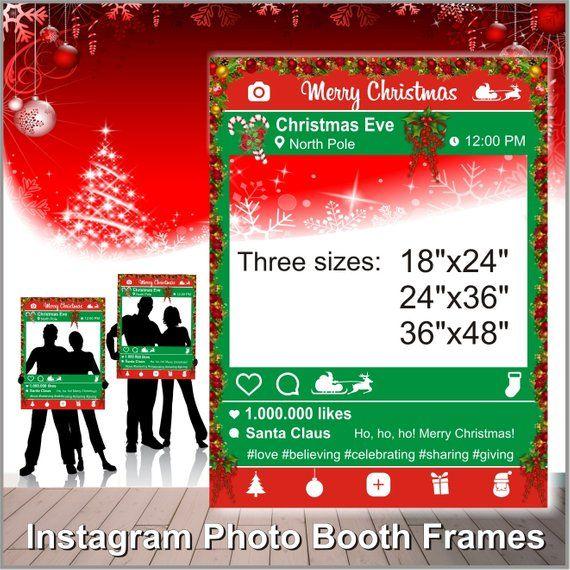 Instagram Christmas Photo Booth Frame Christmas Printable Props