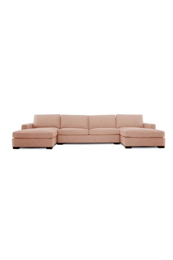 101 Woonideeen Tv Meubel.Anton U Chaise Sectional Mid Century Furniture Grey Fabric