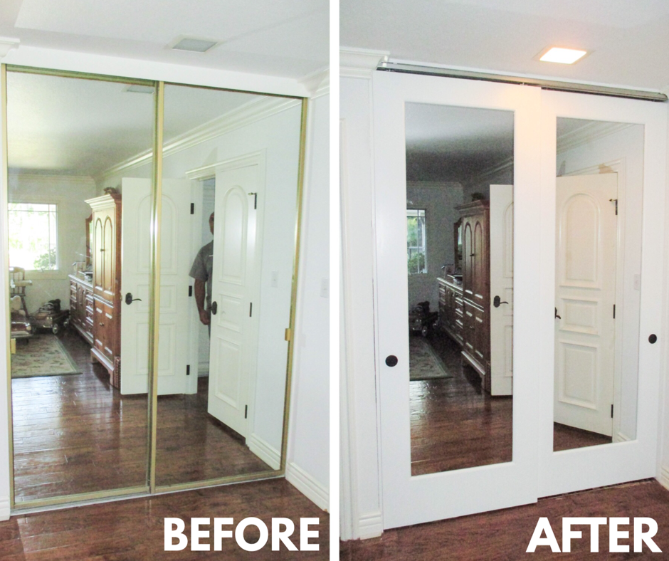 Check Out This Installation Of 2 Track 2 Panel Ovation Top Hung Closet Doors With Mirrors If You Have Had The S Mirror Closet Doors Door Upgrade Closet Doors