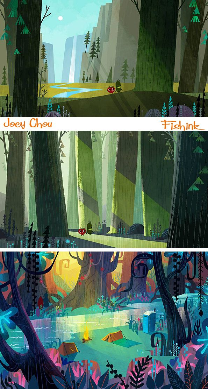 Joey Chou Mid century inspired Artist and Illustrator