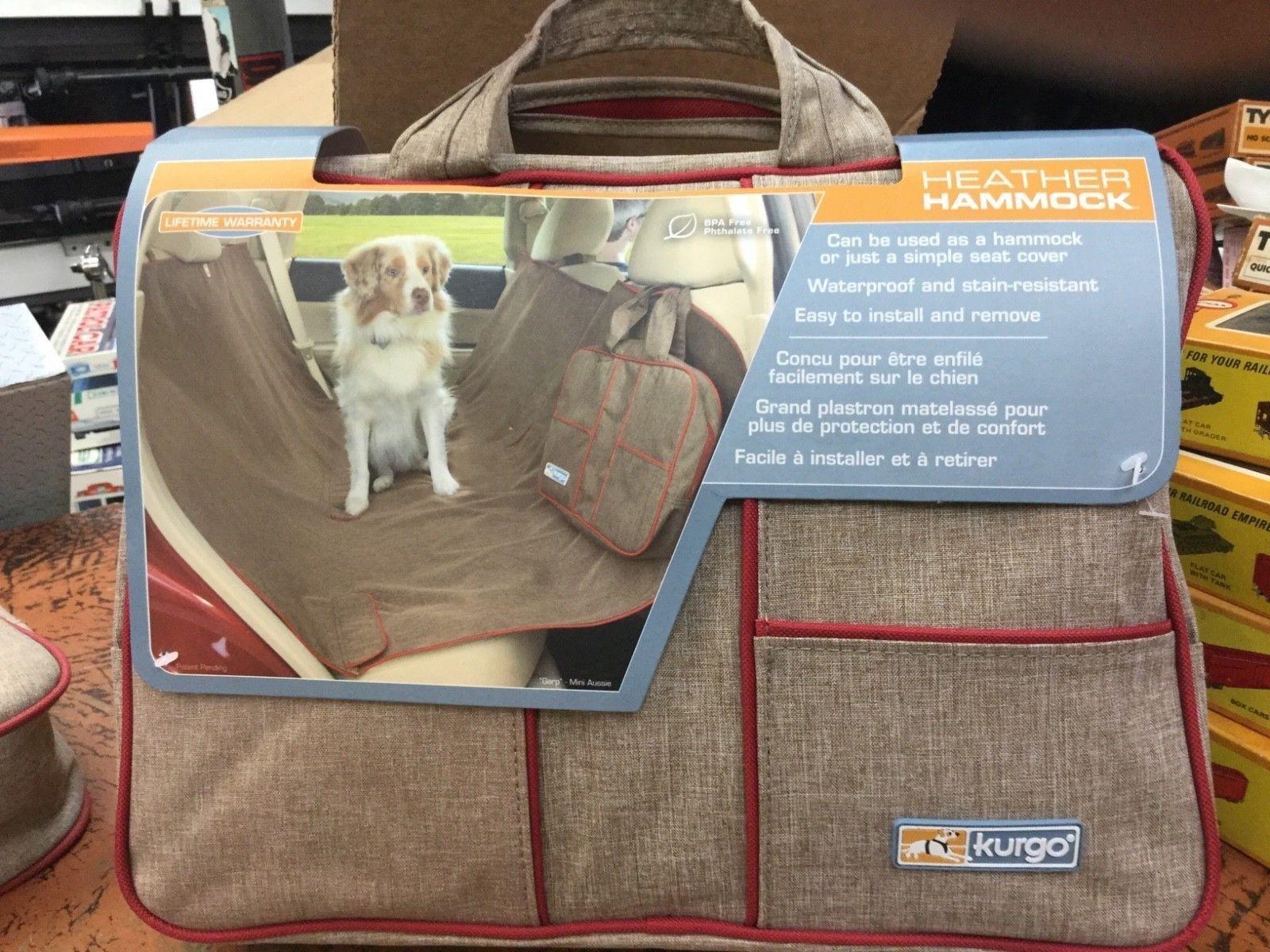 New kurgo heather hammock u seat cover for pets beigered car