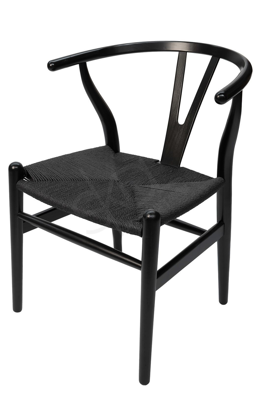 Replica Hans Wegner Wishbone Chair Black wishbone chair