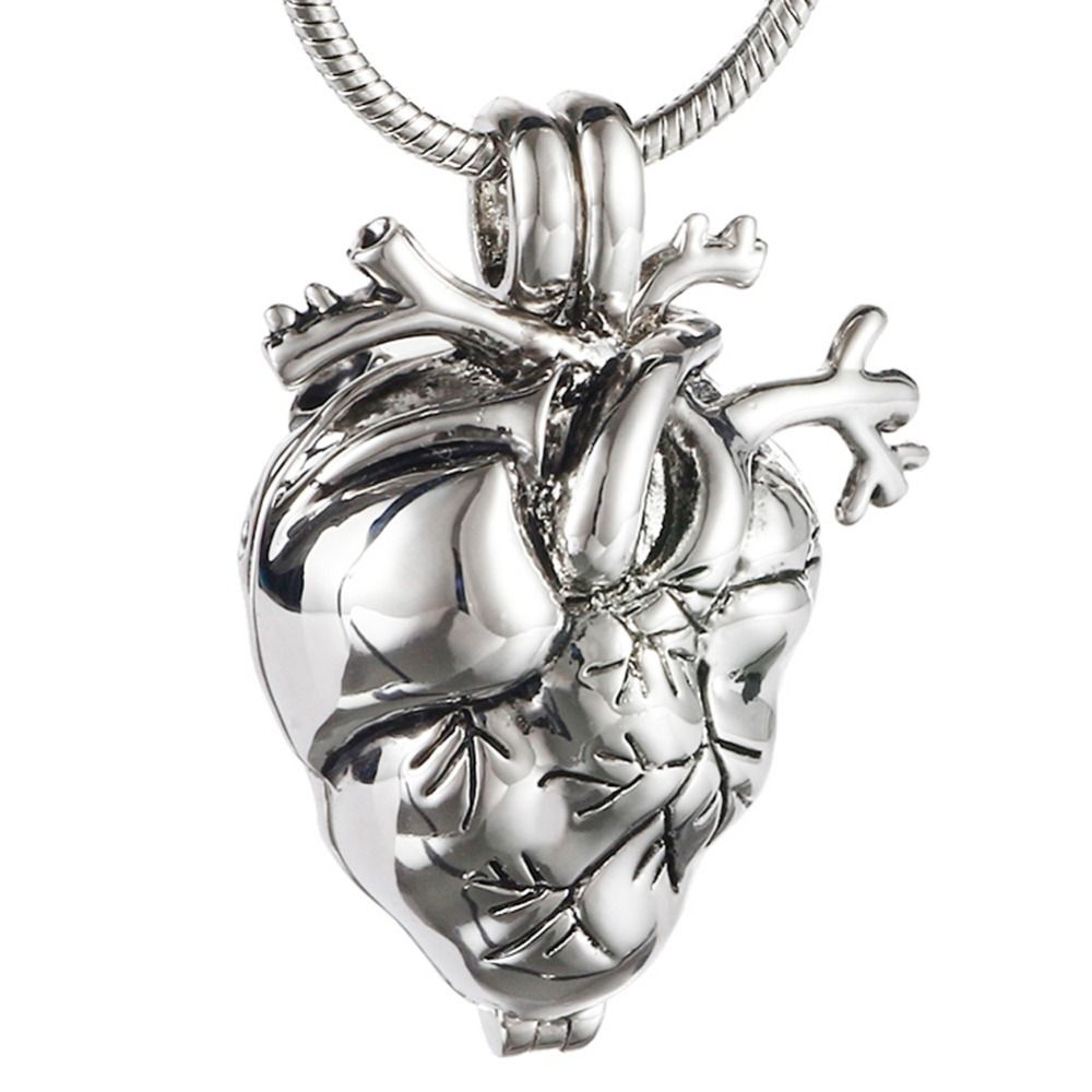 New style memorial heart cremation jewelry for ashes eternity