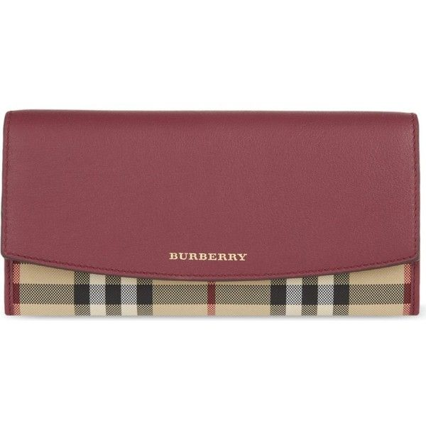 BURBERRY Bag Porter flap leather wallet (8,405 MXN) ❤ liked on Polyvore featuring bags, wallets, dark plum, burberry wallet, snap closure wallet, burberry bags, leather wallet and leather flap bag