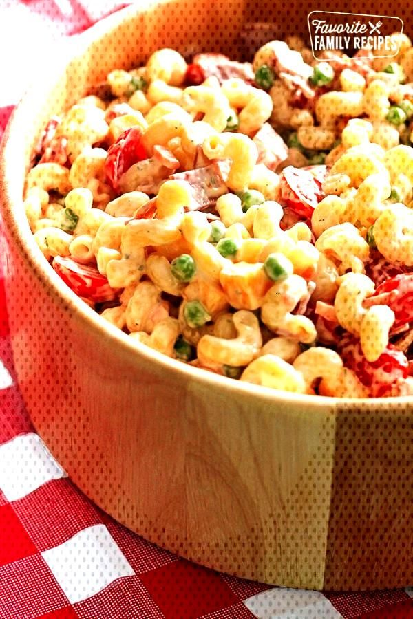 Creamy Bacon Ranch Pasta Salad packs so much flavor into one easy-to-make dish. Perfect for picnics