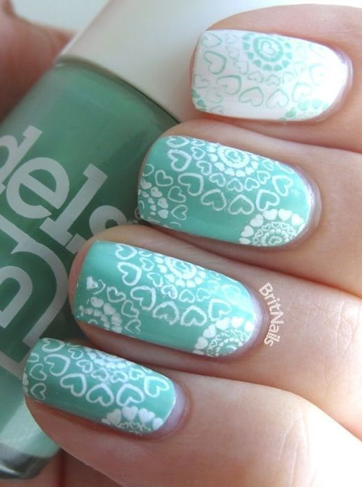 17 Fashionable Mint Nail Designs for Summer: #9. Fabulous Mint Nails for  Summer - 17 Fashionable Mint Nail Designs For Summer French Tip Nail Styles