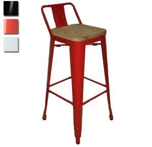 Tolix Bar Back Colour Wood R830 Wooden Kitchen Stools Bar