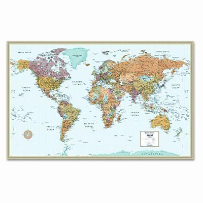 rand mcnally m series full color laminated world wall map on laminated wall maps id=22201