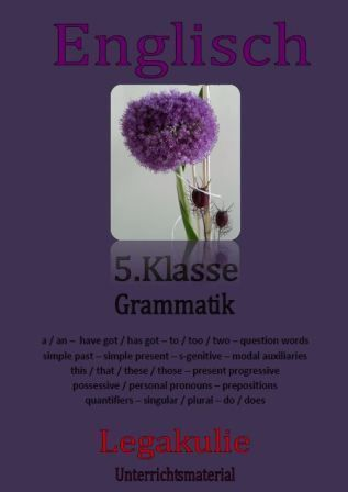 5.Klasse Grammatik / 5th grade grammar | Worksheets