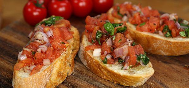 bruschetta brot mit tomaten basilikum und oliven l ciabatta tomaten und videos. Black Bedroom Furniture Sets. Home Design Ideas