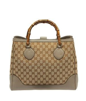 52ad3fa88fcbce Gucci Gg Canvas Leather Medium Diana Bamboo Handle (21812) Beige & Gray Tote  Bag. Get one of the hottest styles of the season! The Gucci Gg Canvas  Leather ...