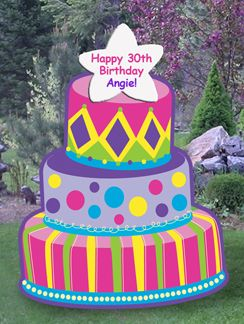 Personalized Birthday Lawn Signs Rentals on Long Island NY Yard