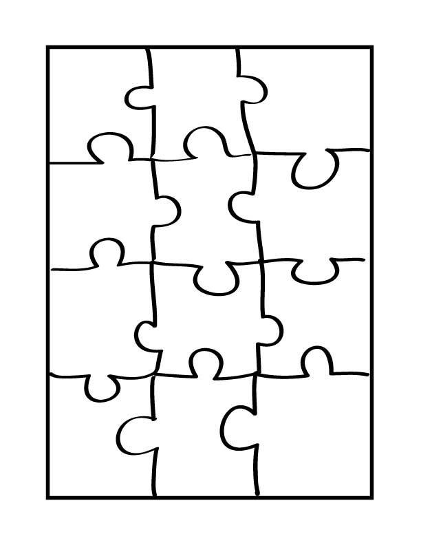 puzzle piece outline coloring pages - photo#19