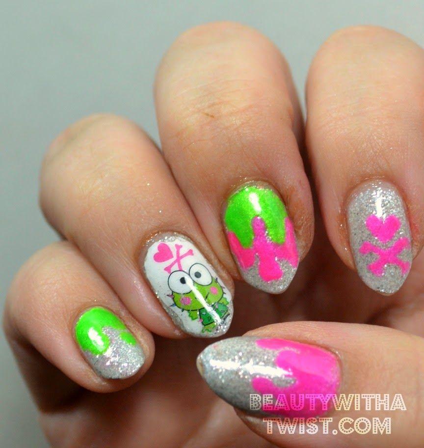 Kawaii nail art Sanrio x Tokidoki Used @Zoya Nail Polish Luna ...