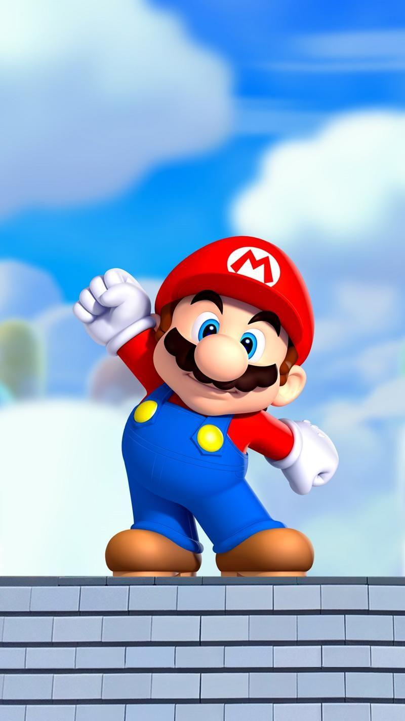 Super Mario Iphone Wallpaper Mario Bros Kartun Mario