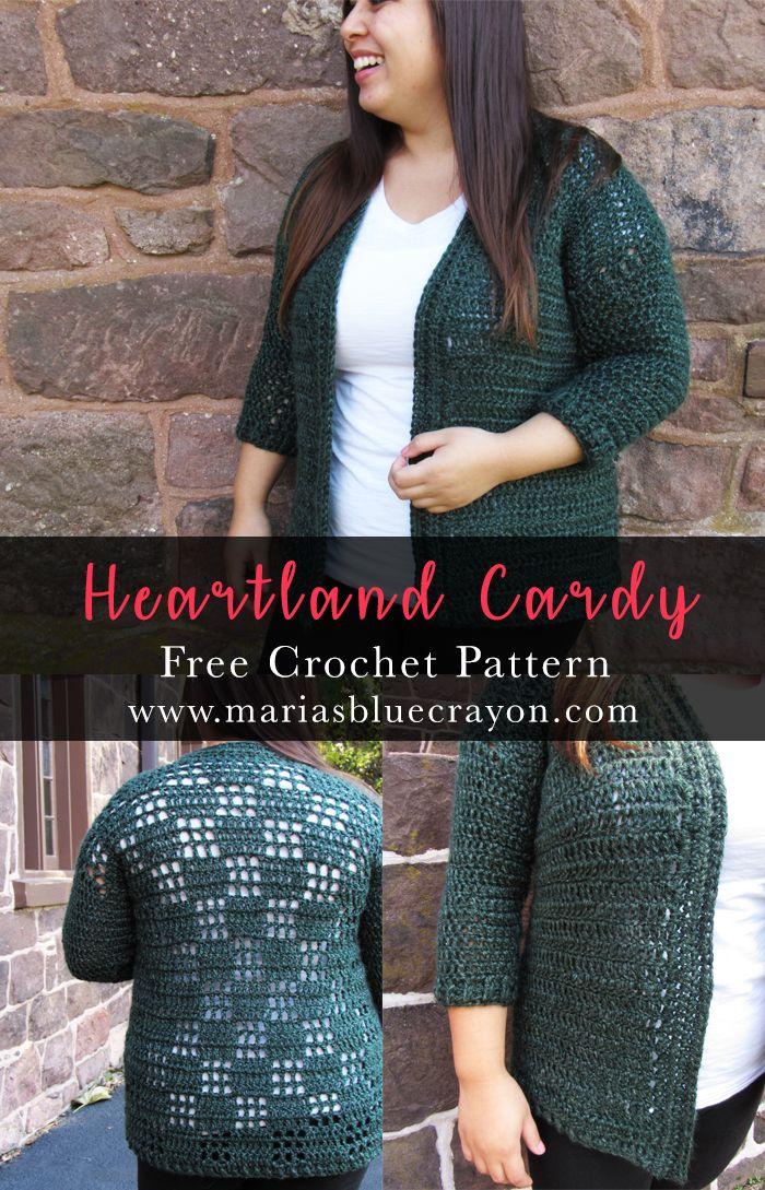 Heartland Cardy | Crochet Cardigan Sweater | Free Crochet Pattern on ...