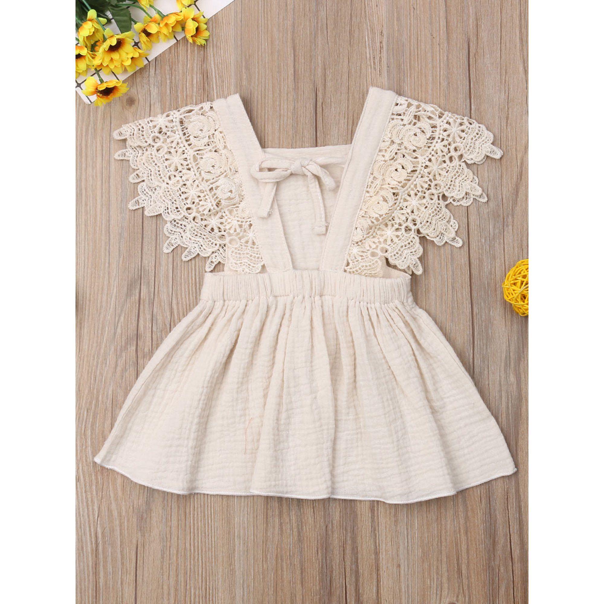 LisenraIn - Toddler Baby Girl Infant Comfy Cotton Linen Lace