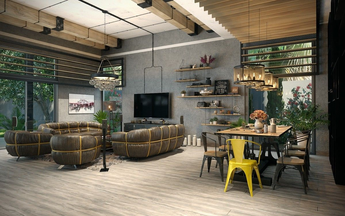 Wohnen Industrie Style industrial loft apartment designs with a vintage and stylish decor