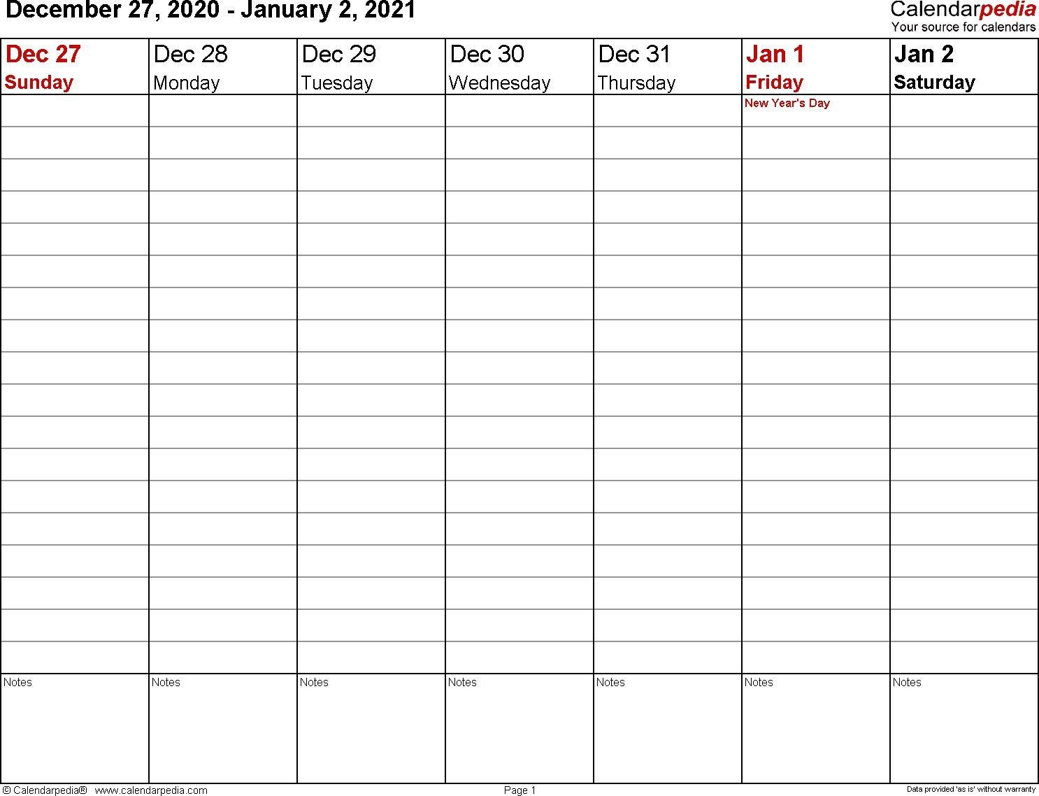 Microsoft Word Calendar Template 2021 Monthly Di 2020