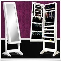 armoire de rangement pour bijoux avec miroir bl idees. Black Bedroom Furniture Sets. Home Design Ideas