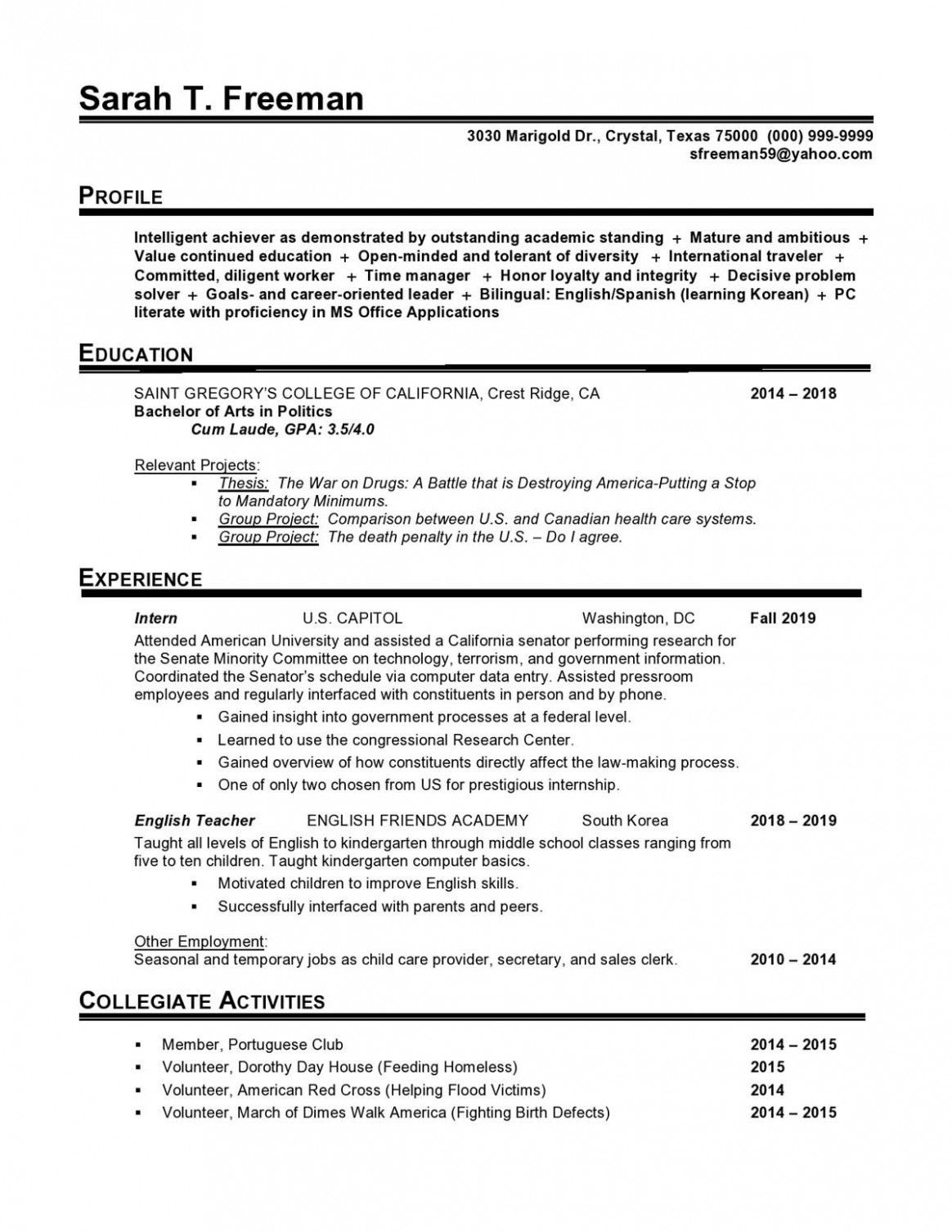 13 Preschool Cv format reference project in 2020