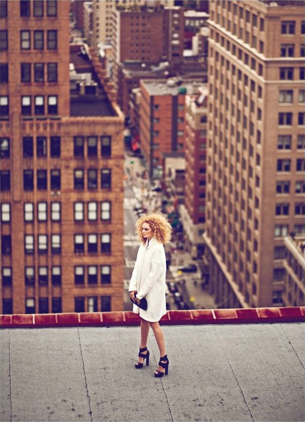 Super Fly – Lily Cole gets high on the top of towering city buildings for the October cover shoot of Harper's Bazaar Turkey. Lensed by Koray Birand  - http://fashiongonerogue.com/lily-cole-koray-birand-harpers-bazaar-turkey-october-2011/#more-66000